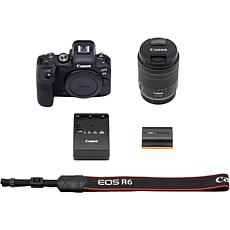 Canon EOS R6 20MP Mirrorless Digital Camera with 24-105mm f/4-7.1 Lens