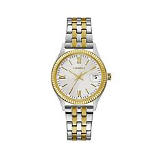 Caravelle 2-Tone Stainless Coin-Edge Watch