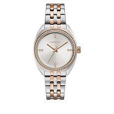 Caravelle 2-Tone Stainless Steel Crystal Dial Watch