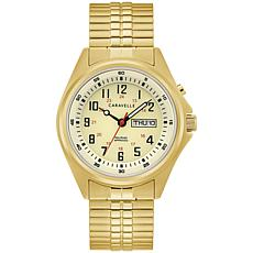 Caravelle by Bulova Goldtone Stainless Men's Expansion Band Watch