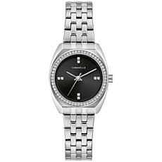 Caravelle by Bulova Women's Silvertone Crystal Bracelet Watch