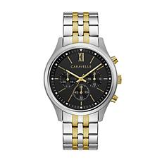 CARAVELLE Designed by Bulova Men's Chronograph Watch, Two-Tone Brac...