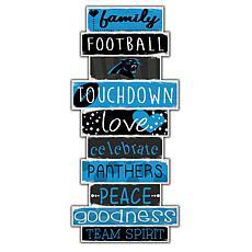 "Carolina Panthers Celebrations Stack 24"" Sign"