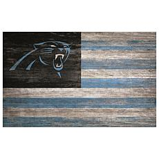 Carolina Panthers Distressed Flag 11x19