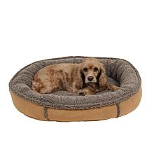 Carolina Pet Sm Faux Suede & Tipped Berber Comfy Cup w Orthopedic Foam