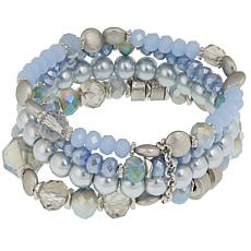 Caroline Hill Set of 4 Beaded Stretch Bracelets