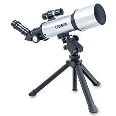 Carson SkyChaser 70mm Refractor Beginner Telescope w/ Tabletop Tripod