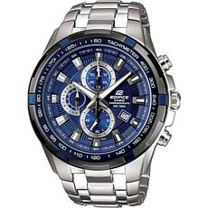 Casio Edifice Stainless Steel Men's Blue Dial Chronograph Watch