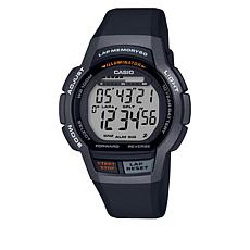 Casio Men's Digital 60-Lap Runner's Watch - Black