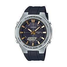 Casio Men's Solar Multi-Function Watch, Black Dial