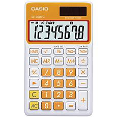 Casio Solar Wallet Calculator, 8-Digit Display/Orange