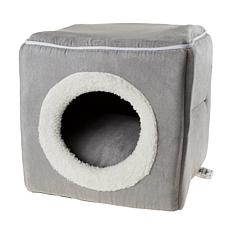 Cat Pet Bed, Cave- Soft Indoor Enclosed Covered Cavern/House