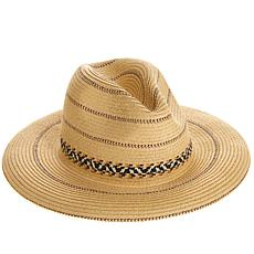 Caya Costa Wide-Brim Straw Fedora