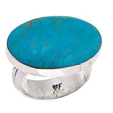 Chaco Canyon Oval Kingman Turquoise Ring