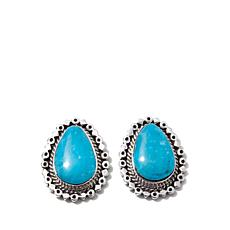 "Chaco Canyon ""Raindrop"" Kingman Turquoise Earrings"
