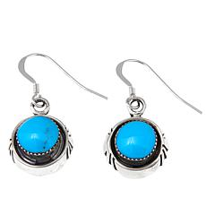 Chaco Canyon Round Kingman Turquoise Drop Earrings