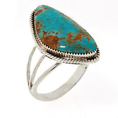 Chaco Canyon Sterling Silver Freeform Cabochon Ring