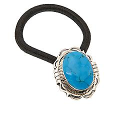 Chaco Canyon Sterling Silver Kingman Turquoise Elastic Hair Tie