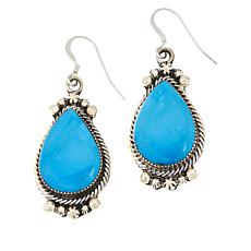 Chaco Canyon Sterling Silver Kingman Turquoise Pear Drop Earrings
