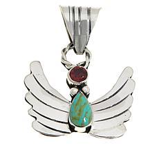 Chaco Canyon Thunderbird Turquoise and Gemstone Pendant