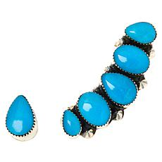 Chaco Canyon Turquoise Ear Climber and Stud Earring Set