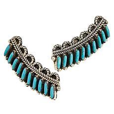 Chaco Canyon Zuni Kingman Turquoise Ear Crawler Earrings