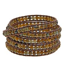 Chan Luu Labradorite Leather Wrap Bracelet