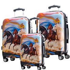 Chariot 3-piece Hardside Luggage Set - Mustang