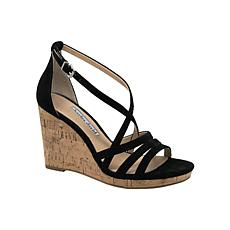Charles David Randee Leather Wedge Sandal