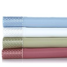 Checkerboard 4-piece Easy Care 600TC Sheet Set