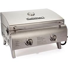 Chef's Style Tabletop Gas Grill in Stainless Steel