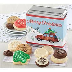 Cheryl's Cookies Xmas Tin of 12 Assorted Treats