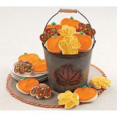 Cheryl's Fall Pumpkin and Leaf Cutout Cookie Gift Pail