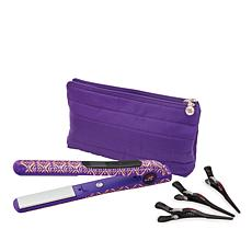 CHI Metallic Amethyst Smart GEMZ Volumizing Styling Iron w/Clips & Bag