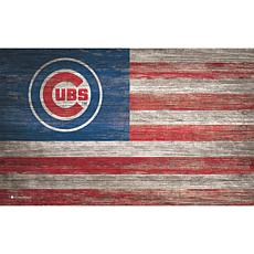 Chicago Cubs Distressed Flag 11x19