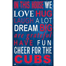 Chicago Cubs In This House Sign