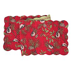 Chickadee Red Table Runner