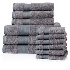 Chloe 100% Turkish Cotton 12-piece Towel Set
