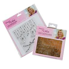 Chloe Foiled Acetate Christmas Stamps with Border