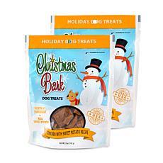 Christmas Bark Chicken with Sweet Potato Recipe Dog Treats 2 Pack 5 oz