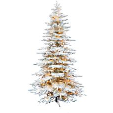 Christmas Time 6.5' Snowy Artificial Christmas Tree w/ Smart Lights