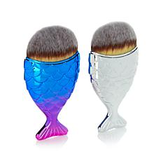 Chubby Mermaid Multipurpose Makeup Brush Duo