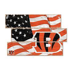 Cincinnati Bengals Flag 3 Plank