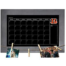 Cincinnati Bengals Monthly Chalkboard with frame & clothespins 11x1...