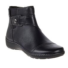 Clarks Collection Cora Tropic Casual Leather Ankle Boot