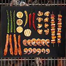 Classic Cuisine Non-Stick Reusable BBQ Grill Mat-Set of 2