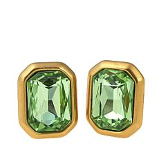 """CLB NYC """"Concrete Jungle"""" Colored Crystal Earrings"""