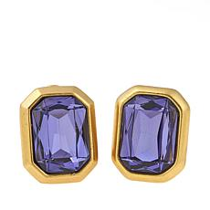 "CLB NYC ""Concrete Jungle"" Colored Crystal Earrings"
