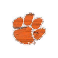 Clemson University Distressed Logo Cutout Sign