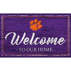 """Clemson University Team Color Welcome Sign - 11x19"""""""